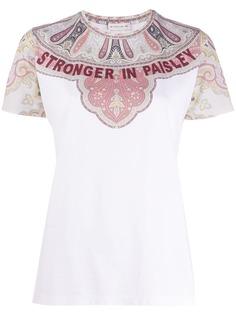 Etro футболка Stronger In Paisley
