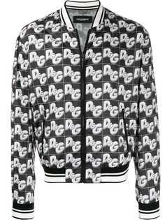 Dolce & Gabbana куртка-бомбер с логотипом D&G