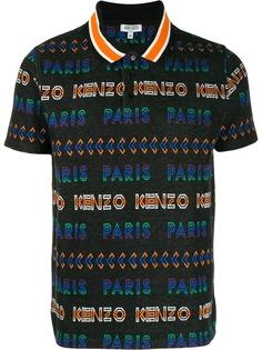 Kenzo жаккардовая рубашка-поло с логотипом