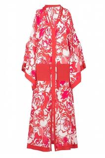 Красное платье-кафтан Roberto Cavalli