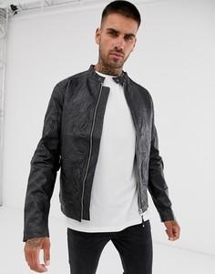 Кожаная куртка Jack & Jones - Черный