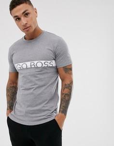 Серая узкая футболка с логотипом BOSS bodywear - Серый