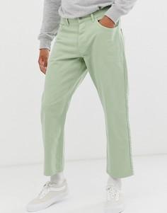 Джинсы мятного цвета с широкими штанинами Noak - Зеленый