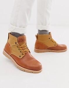 Светло-коричневые кожаные походные ботинки Levis Jax - Рыжий Levis®