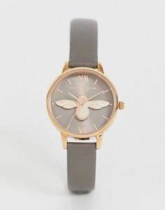 Часы с кожаным ремешком Olivia Burton OB16AM148 Bee - Серый