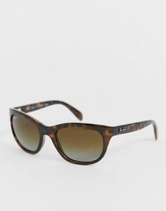Классические солнцезащитные очки в черепаховой оправе Ray Ban - Коричневый