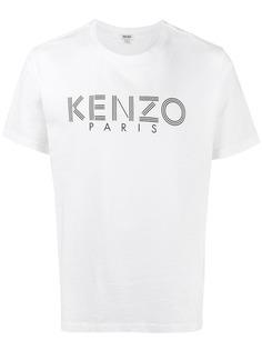 Kenzo классическая футболка с принтом логотипа