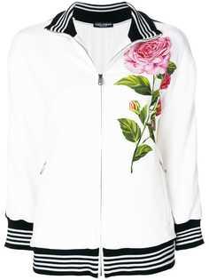 111f82f89edb Dolce & Gabbana толстовка на молнии с принтом розы