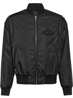 Prada куртка-бомбер с логотипом