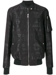 Rick Owens куртка-бомбер с полосками