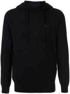 Emporio Armani logo patch hoodie