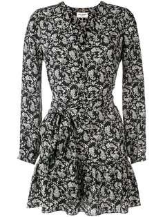 Saint Laurent платье с принтом