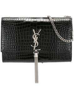 Saint Laurent сумка среднего размера Kate Monogram с кисточкой