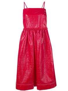 Marni коктейльное платье со сборками