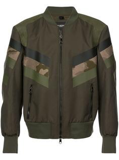 Neil Barrett куртка-бомбер с камуфляжным принтом