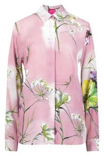 Розовый костюм из вискозы Blumarine