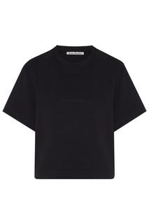 Черная укороченная футболка Acne Studios