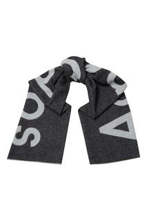 Черный шарф с логотипом Acne Studios