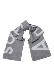 Серый шарф с логотипом Acne Studios