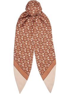 Burberry платок-повязка на волосы с монограммами