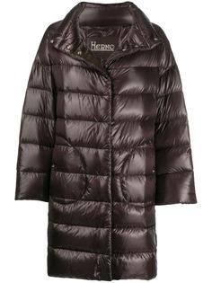 Herno стеганое пальто с высоким воротником