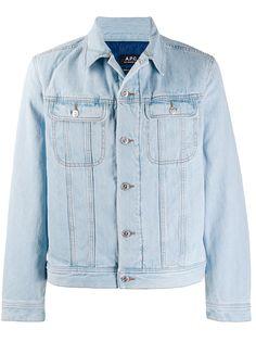 A.P.C. утепленная джинсовая куртка