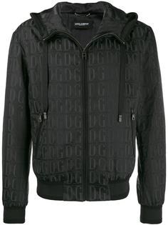 Dolce & Gabbana жаккардовая куртка-бомбер с логотипом