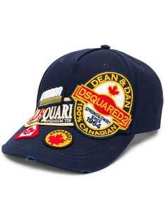 Dsquared2 бейсболка с нашивкой-логотипом