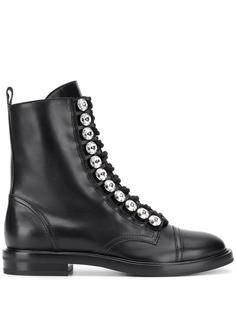 Casadei ботинки с кристаллами