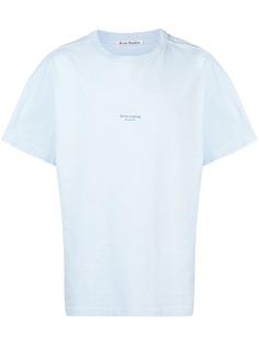Acne Studios футболка кроя оверсайз с логотипом