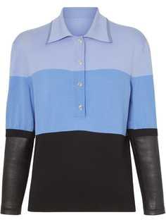 Burberry рубашка-поло с длинными рукавами