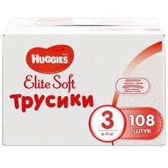 Трусики-подгузники Huggies Элит Софт 3 (6-11кг), 108 шт.