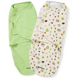 Конверты на липучке SwaddleMe, зеленый, L, 2 шт. Summer Infant