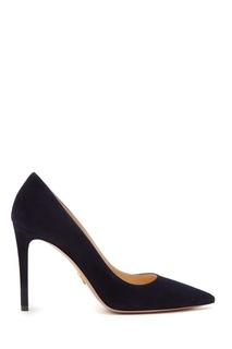Замшевые черные туфли Prada