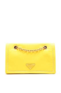 Желтая сумка из нейлона Prada