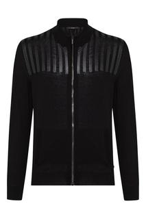 Черный пуловер на молнии Billionaire