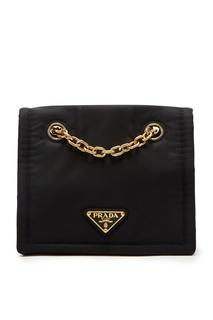 Текстильная черная сумка Prada