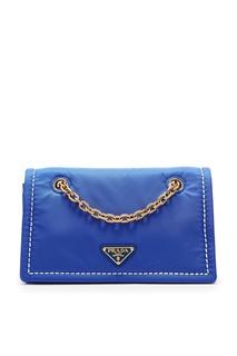 Синяя сумка из нейлона Prada