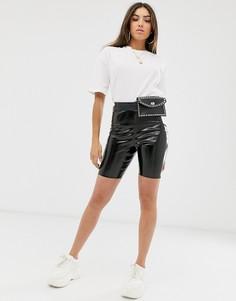 Виниловые шорты-леггинсы ASOS DESIGN - Черный