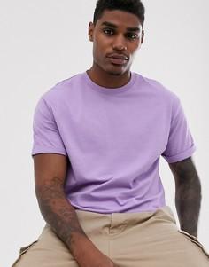 Свободная фиолетовая футболка Bershka Join Life - Фиолетовый