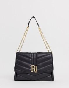 Черная стеганая сумка на плечо River Island - Черный