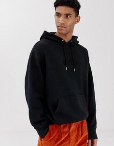 Черный худи свободного кроя с вышитым логотипом Levis - Черный Levis®