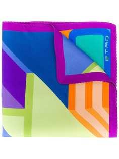 Etro платок с контрастным логотипом