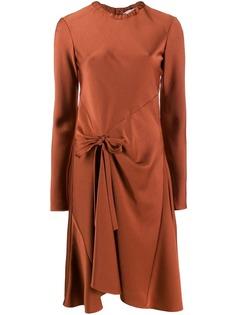 Chloé расклешенное платье с завязками
