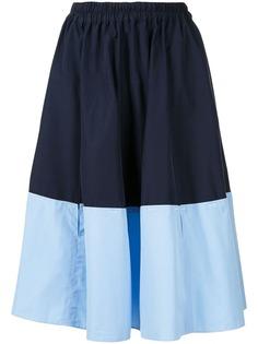 Marni двухцветная юбка миди