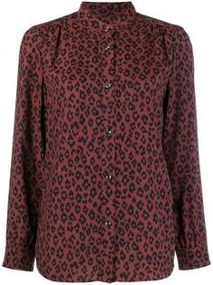 A.P.C. блузка с леопардовым принтом