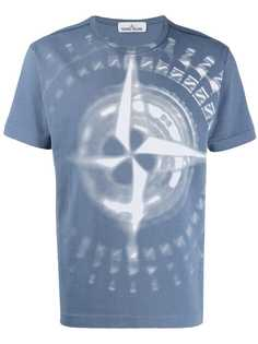 Stone Island compass logo print T-shirt