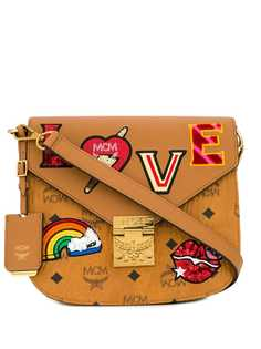 MCM Patricia Love Patch shoulder bag