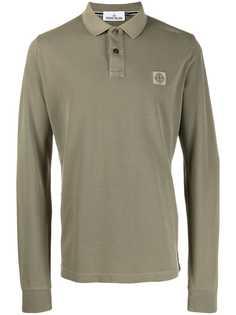Stone Island рубашка-поло с длинными рукавами