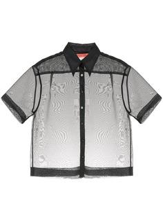 Manning Cartell полупрозрачная рубашка с короткими рукавами